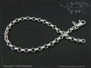 Silberkette Erbsenkette Armband B4.0L21 massiv 925 Sterling Silber
