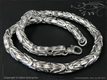 Königskette Rund B10.0L55 massiv 925 Sterling Silber