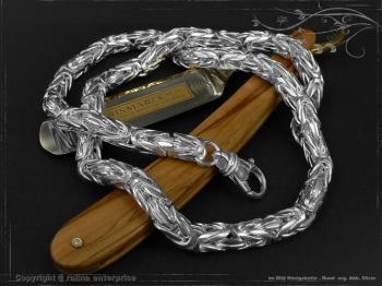 Königskette Rund B8.0L55 massiv 925 Sterling Silber
