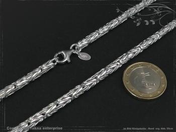 Königskette Rund B4.0L45 massiv 925 Sterling Silber