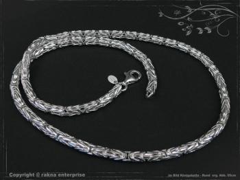 Königskette Rund B4.0L75 massiv 925 Sterling Silber