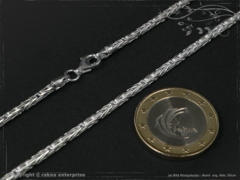 Königskette Rund B2.3L40 massiv 925 Sterling Silber