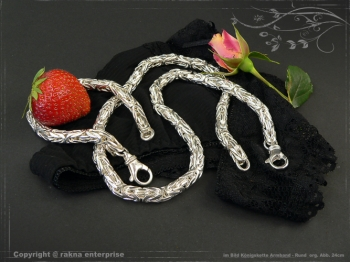 Königskette Armband Rund B10.0L25 massiv 925 Sterling Silber