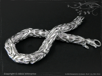 Königskette Armband Rund B10.0L27 massiv 925 Sterling Silber