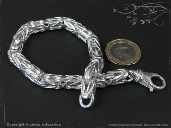 Königskette Armband Rund B8.0L20 massiv 925 Sterling Silber