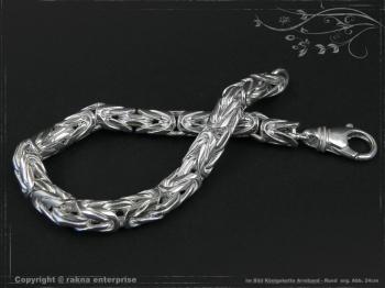Königskette Armband Rund B8.0L23 massiv 925 Sterling Silber