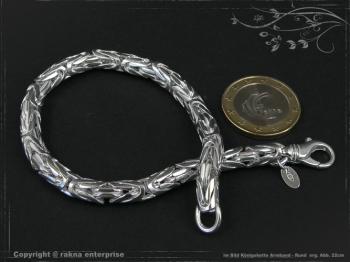 Königskette Armband Rund B6.0L18 massiv 925 Sterling Silber