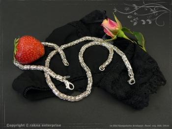 Königskette Armband Rund B6.0L19 massiv 925 Sterling Silber
