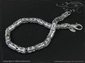 Königskette Armband Rund B6.0L22 massiv 925 Sterling Silber