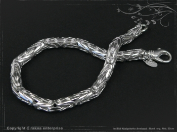Königskette Armband Rund B6.0L23 massiv 925 Sterling Silber