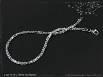 Königskette Armband Rund B2.3L25 massiv 925 Sterling Silber
