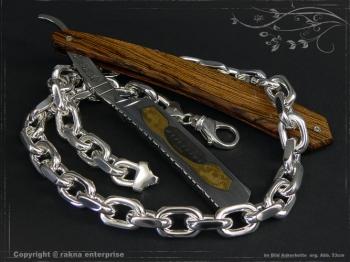 Ankerkette B12.0L50 massiv 925 Sterling Silber