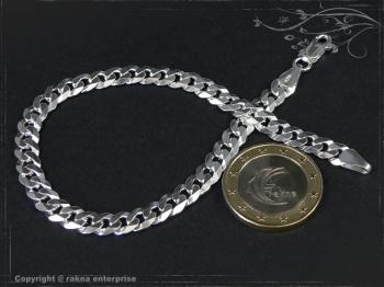 Panzerarmband B6.0L20 massiv 925 Sterling Silber
