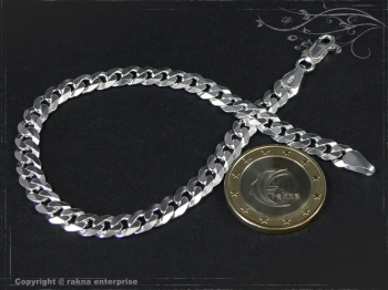 Panzerarmband B6.0L24 massiv 925 Sterling Silber