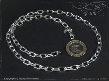 Ankerkette B5.5L70 massiv 925 Sterling Silber
