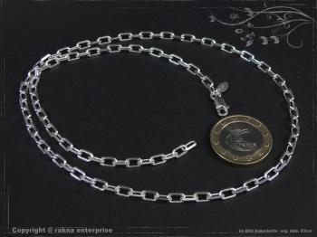 Ankerkette B3.8L60 massiv 925 Sterling Silber