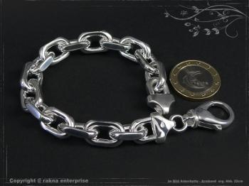 Ankerkette Armband B10.0L18 massiv 925 Sterling Silber
