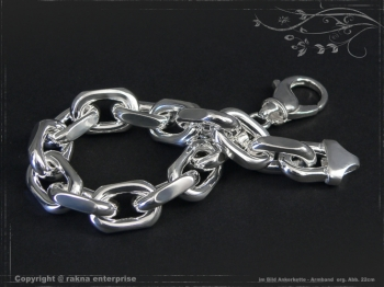 Ankerkette Armband B12.0L24 massiv 925 Sterling Silber
