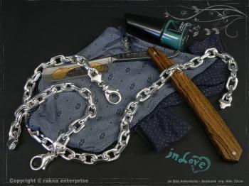Ankerkette Armband B10.0L19 massiv 925 Sterling Silber