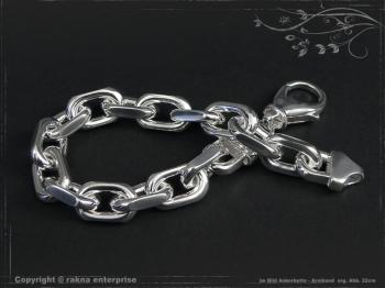 Ankerkette Armband B10.0L24 massiv 925 Sterling Silber