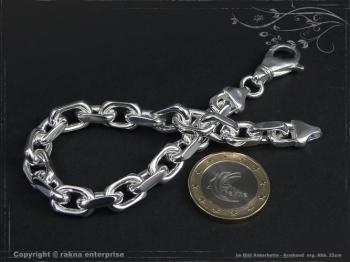Ankerkette Armband B8.0L17 massiv 925 Sterling Silber