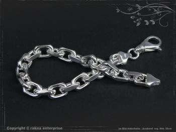 Ankerkette Armband B8.0L25 massiv 925 Sterling Silber