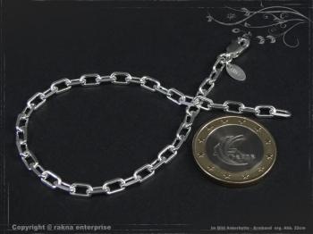 Ankerkette Armband B3.8L17 massiv 925 Sterling Silber