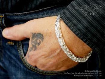 Königskette Armband B7.0L21 massiv 925 Sterling Silber