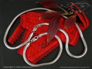 Schlangenkette Armband D6.0L18 massiv 925 Sterling Silber