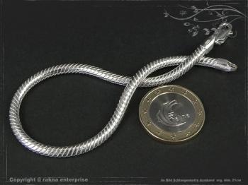 Schlangenkette Armband D3.5L17 massiv 925 Sterling Silber