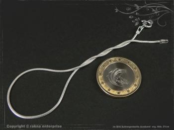 Schlangenkette Armband D1.2L17 massiv 925 Sterling Silber