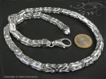 Königskette B8.0L75 massiv 925 Sterling Silber