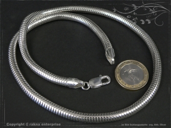 Schlangenkette D6.0L80 massiv 925 Sterling Silber
