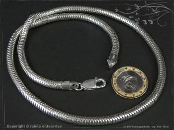 Schlangenkette D5.0L75 massiv 925 Sterling Silber