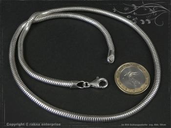 Schlangenkette D4.0L40 massiv 925 Sterling Silber