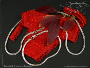 Schlangenkette D3.5L50 massiv 925 Sterling Silber