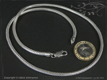 Schlangenkette D3.5L60 massiv 925 Sterling Silber