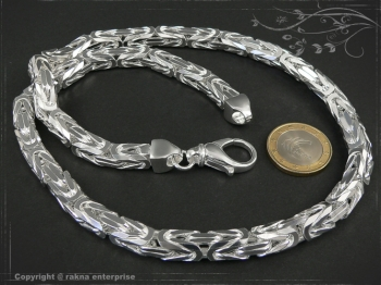 Königskette B8.0L85 massiv 925 Sterling Silber