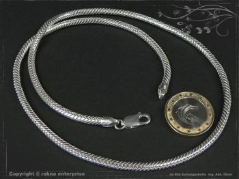 Schlangenkette D3.5L70 massiv 925 Sterling Silber