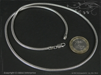 Schlangenkette D3.0L80 massiv 925 Sterling Silber