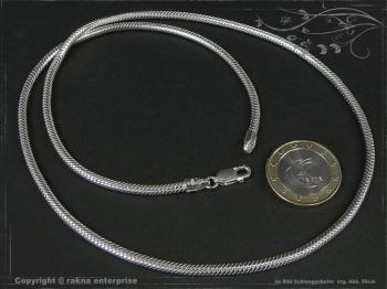 Schlangenkette D3.0L40 massiv 925 Sterling Silber