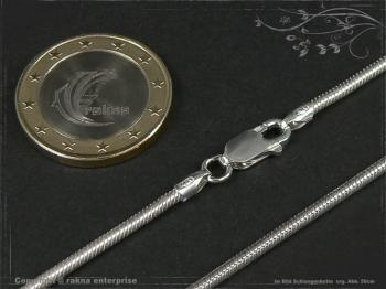 Schlangenkette D2.0L45 massiv 925 Sterling Silber