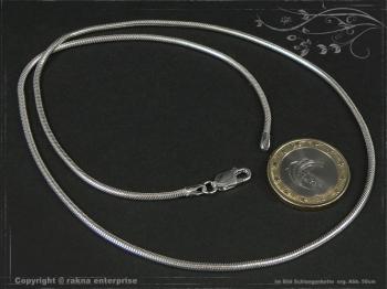 Schlangenkette D2.0L65 massiv 925 Sterling Silber