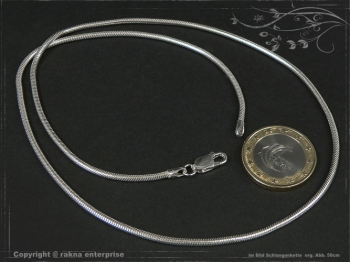 Schlangenkette D2.0L80 massiv 925 Sterling Silber