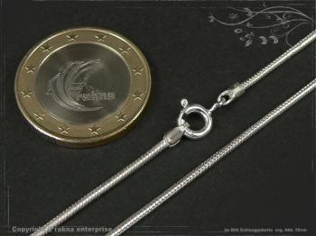 Schlangenkette D1.4L60 massiv 925 Sterling Silber