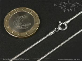 Schlangenkette D1.4L60m massiv 925 Sterling Silber