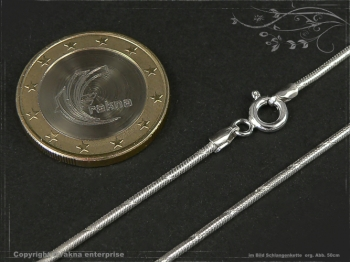 Schlangenkette D1.4L75m massiv 925 Sterling Silber