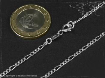 Figarokette  B2.2L45 massiv 925 Sterling Silber