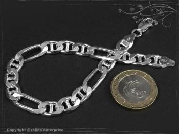 Figarucci  Panzerkette Armband B7.5L17 massiv 925 Sterling Silber