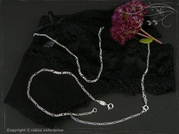 Figarokette  B2.2L50 massiv 925 Sterling Silber